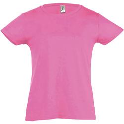 textil Flickor T-shirts Sols Cherry Medium rosa