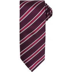 textil Herr Slipsar och accessoarer Premier PR783 Bourgogne/aubergine