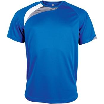 textil Herr T-shirts Kariban Proact PA436 Kungligt blått/ vitt/ stormgrått