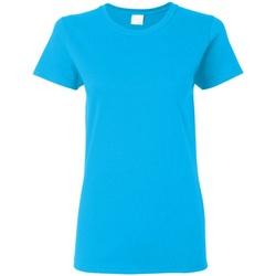 textil Dam T-shirts Gildan Missy Fit Heather Sapphire