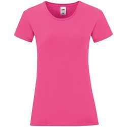 textil Dam T-shirts Fruit Of The Loom 61432 Fuchsia rosa