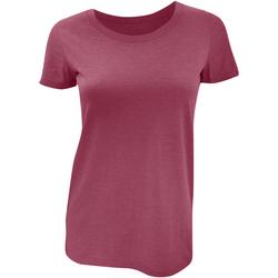 textil Dam T-shirts Bella + Canvas BE8413 Maroon Triblend