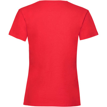 textil Flickor T-shirts Fruit Of The Loom Valueweight Röd
