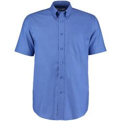 textil Herr Kortärmade skjortor Kustom Kit KK350 Italiensk blå