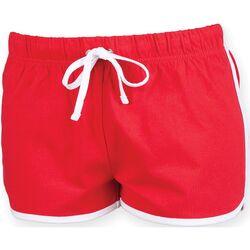 textil Dam Shorts / Bermudas Skinni Fit SK069 Röd/vit