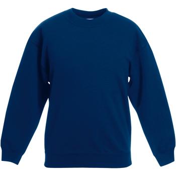 textil Barn Sweatshirts Fruit Of The Loom Classic Marinblått
