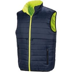 textil Herr Koftor / Cardigans / Västar Result R332X Fluorescerande gult/marinblått