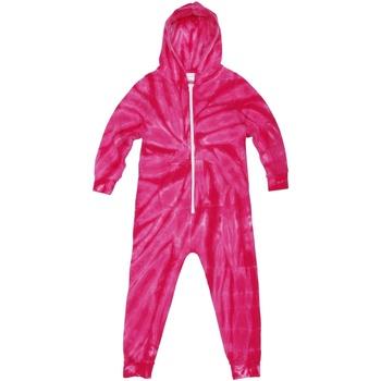 textil Barn Pyjamas/nattlinne Colortone Die Tye Spindelrosa