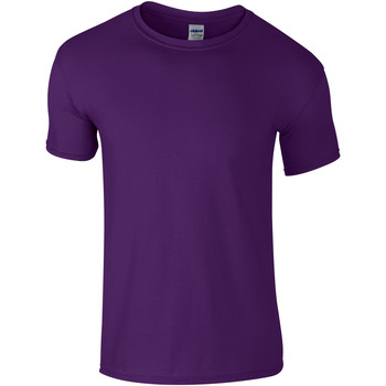 textil Barn T-shirts Gildan 64000B Lila