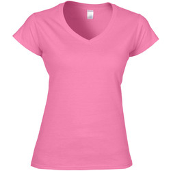 textil Dam T-shirts Gildan Soft Style Azalea