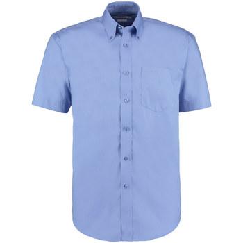textil Herr Kortärmade skjortor Kustom Kit KK109 Mellanblått
