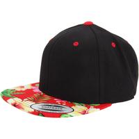 Accessoarer Keps Yupoong  Svart/blommigt rött