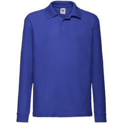 textil Pojkar Långärmade skjortor Fruit Of The Loom 63201 Kungliga