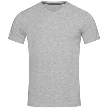 textil Herr T-shirts Stedman Stars Clive Grått