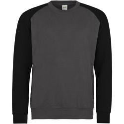 textil Herr Sweatshirts Awdis JH033 Charcoal/Jet Black
