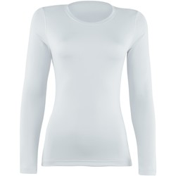 textil Dam Långärmade T-shirts Rhino  Vit