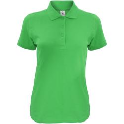 textil Dam Kortärmade pikétröjor B And C Safran Riktigt grönt
