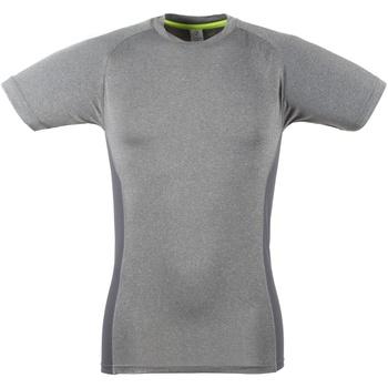 textil Herr T-shirts Tombo Teamsport TL515 Grå marl / Grå