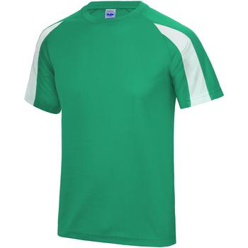 textil Herr T-shirts Just Cool JC003 Kelly Green/Arctic White