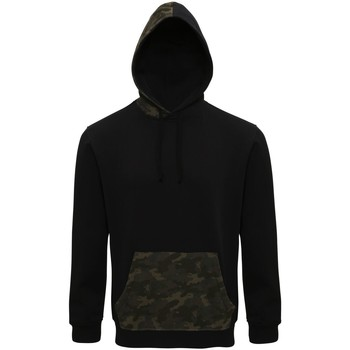textil Herr Sweatshirts Asquith & Fox AQ047 Svart/grön kamouflage