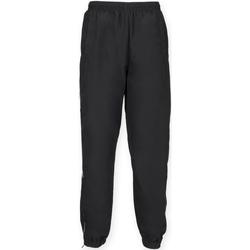 textil Herr Joggingbyxor Tombo Teamsport TL470 Svart/vit rör