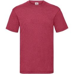textil Herr T-shirts Fruit Of The Loom 61036 Vintage Heather röd