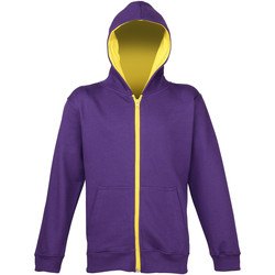 textil Barn Sweatshirts Awdis JH53J Lila/Solgult