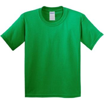 textil Barn T-shirts Gildan 64000B Irländsk grön