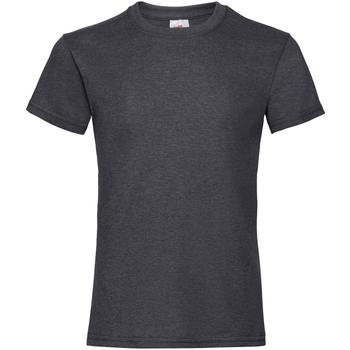 textil Flickor T-shirts Fruit Of The Loom Valueweight Mörk ljung