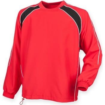 textil Herr Sweatjackets Finden & Hales LV845 Röd/ svart/ vit