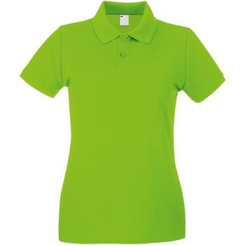 textil Dam Kortärmade pikétröjor Universal Textiles 63030 Lime Green