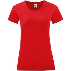 textil Dam T-shirts Fruit Of The Loom 61432 Röd