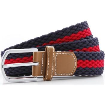 Accessoarer Herr Bälten Asquith & Fox Two Colour Stripe Marinblått/rött