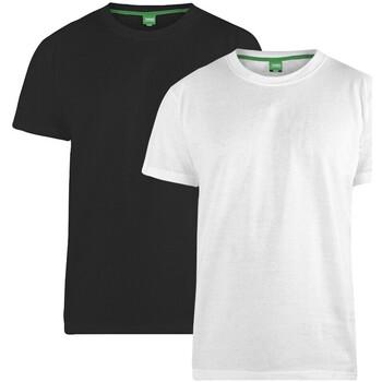 textil Herr T-shirts Duke  Svart/vit