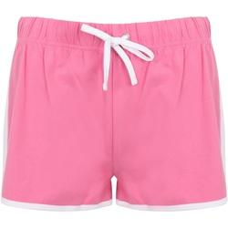 textil Dam Shorts / Bermudas Skinni Fit SK69 Ljusrosa/vit