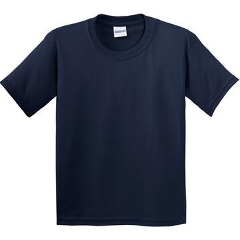textil Barn T-shirts Gildan 64000B Marinblått