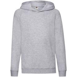 textil Barn Sweatshirts Fruit Of The Loom 62009 Grått