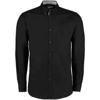 textil Herr Långärmade skjortor Kustom Kit KK190 Svart/silver