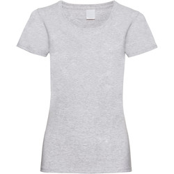 textil Dam T-shirts Universal Textiles 61372 Grå marl