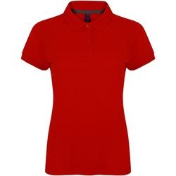 textil Dam Kortärmade pikétröjor Henbury HB102 Klassiskt röd