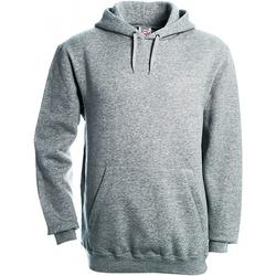 textil Herr Sweatshirts B And C WU620 Grått