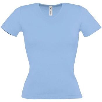 textil Dam T-shirts B And C BA116 Himmelblått