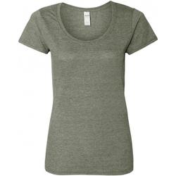 textil Dam T-shirts Gildan 64550L Grafit Heather