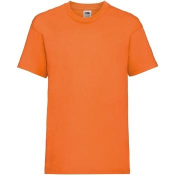 textil Barn T-shirts Fruit Of The Loom 61033 Orange