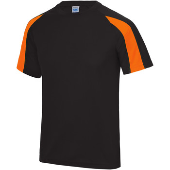textil Herr T-shirts Just Cool JC003 Jet Black/Electric Orange