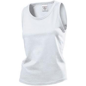 textil Dam Linnen / Ärmlösa T-shirts Stedman  Vit