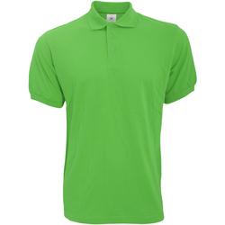 textil Herr Kortärmade pikétröjor B And C PU409 Riktigt grönt