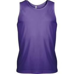 textil Herr Linnen / Ärmlösa T-shirts Kariban Proact PA441 Violett