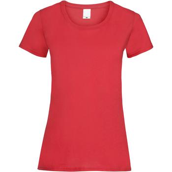 textil Dam T-shirts Universal Textiles 61372 Ljusröd