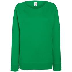 textil Dam Sweatshirts Fruit Of The Loom 62146 Kelly Green